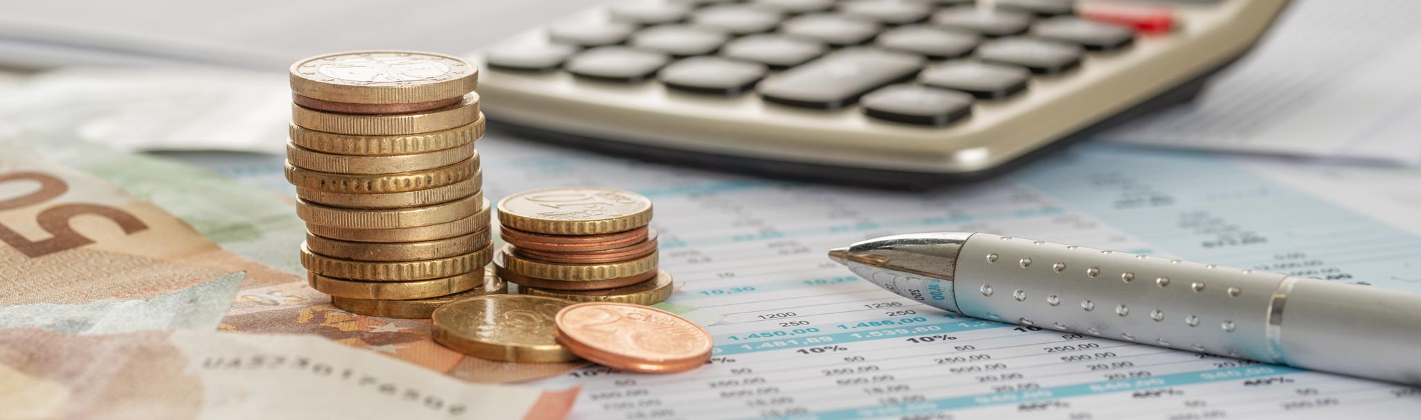 photo of money and calculator